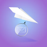 Paper airplane message Royalty Free Stock Photos