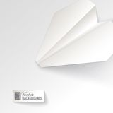 Paper airplane origami. Royalty Free Stock Image