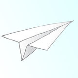 Paper airplane vector. A fully scalable vector illustration of a paper airplane. Jpeg, Illustrator AI and EPS 8.0 files included Royalty Free Stock Photography