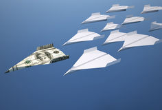 Paper airplanes Stock Photography
