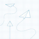 Paper Airplanes royalty free stock photos