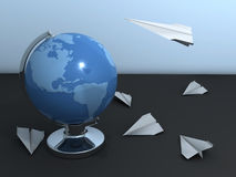 Paper airplanes Royalty Free Stock Photo