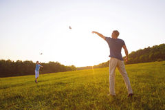 Paper airplanes. Royalty Free Stock Photos