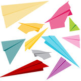 Paper Airplanes. An image of a set of 3d paper airplanes stock illustration
