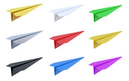 Paper airplanes. Isolated on white background vector illustration