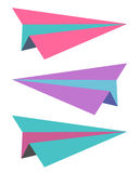 Paper Airplanes. A set of colorful paper airplanes Stock Photography