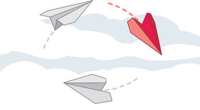 Paper airplanes Royalty Free Stock Image