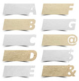 Paper alphabet banners presentations background Royalty Free Stock Photography
