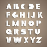 Paper alphabet Royalty Free Stock Photography