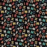 Paper alphabet pattern Stock Photography