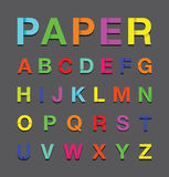 Paper alphabet text Stock Images