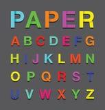 Paper alphabet text Stock Images