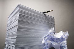 Paper And The Handle Royalty Free Stock Image