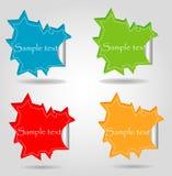 paper anförandeetiketter för oklarhet Arkivfoton