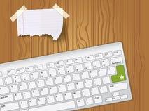 Paper anmärkningen och tangentbordet Stock Illustrationer