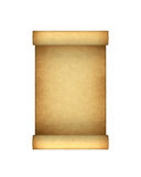 Paper antique scroll. Isolated on white Stock Photos