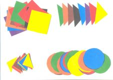 Paper application cut from colored with scissors. Paper application cut from colored with the scissors stock illustration