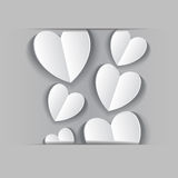 Paper application of hearts Stock Photo