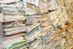 Paper archive Royalty Free Stock Images