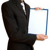 paper ark för affärsman royaltyfri fotografi