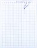 paper ark för anteckningsbok Arkivfoto