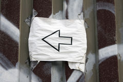 Paper arrow royalty free stock image