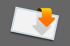 Paper with arrow Royalty Free Stock Images