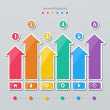 Paper arrow infographics Stock Photos