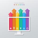 Paper arrow infographics Stock Photo