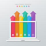 Paper arrow infographics Royalty Free Stock Photography