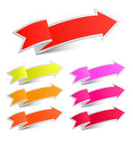 Paper arrow stickers Stock Photography
