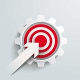 Paper Arrow Target Gear PiAd Stock Photography