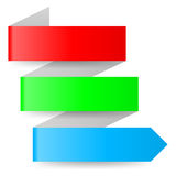 Paper arrow Royalty Free Stock Images