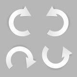 Circle white paper arrow set Stock Photo
