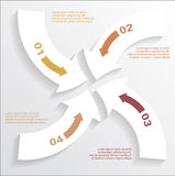 Paper arrows infographic Royalty Free Stock Photos
