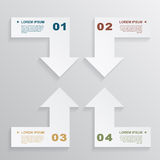 Paper arrows infographic Royalty Free Stock Photo