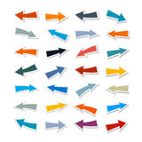 Paper Arrows Set. Isolated on White Background Royalty Free Stock Image