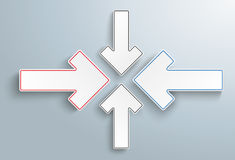 Paper 4 Arrows Solution Cross Stock Photography