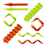 Paper arrows vector set Royalty Free Stock Photo
