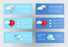Paper art of balloons,  paper art idea, vector art and illustration. Balloons with clouds and banner for your text. Stock Photography