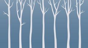 Paper art birch tree on blue background stock illustration
