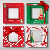 Paper art and craft of Merry Christmas border frame photo design. Set,portrait,vector vector illustration