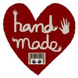 Paper art style, Handmade symbol heart shape and bar code illustration. Paper art style, Handmade symbol heart shape and bar code isolated on white background Stock Photos