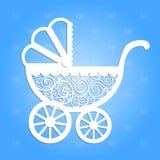 Paper baby pram. Stock Image
