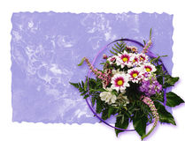 Paper background and bouquet Royalty Free Stock Photo