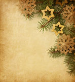 Paper background with Christmas border. Royalty Free Stock Photography