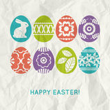Paper background with  colour easter eggs Stock Images