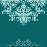 Paper background with damask ornament Royalty Free Stock Image