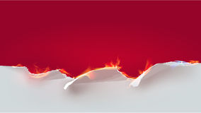 Paper background and flame Stock Photography
