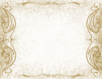 Paper background with flourish Royalty Free Stock Photo